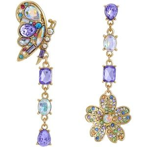 New Betsey Johnson Lovely butterfly Drop Earrings